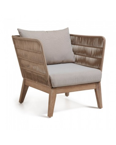 BELLANO Armchair  acacia white washed rope beige C837R33
