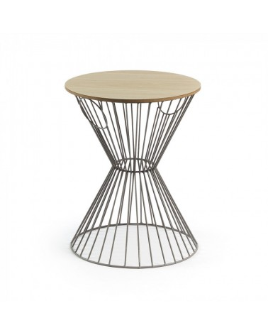 AA1724R03 TOLHAN Side table metal grey mdf natural