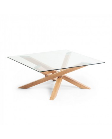 CC1106C07  MIKADO Coffee table 90x90 cm with glass top and steel legs i