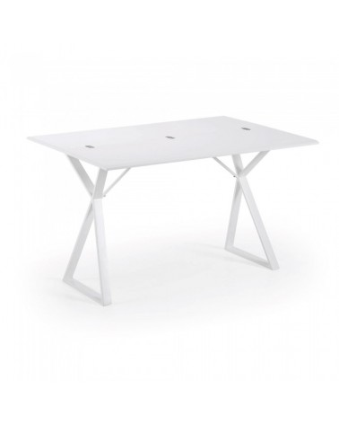 ATIK Console Table 130*45(90)*76 Ext Mat Lacq. White C041M33