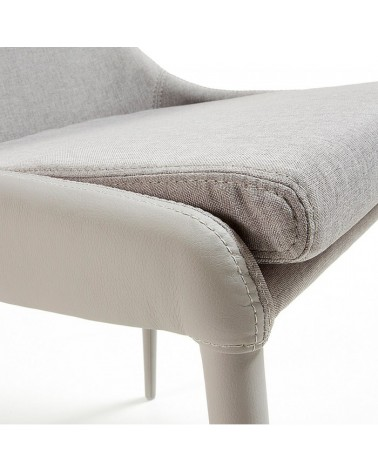DANT Chair Pu + Fabric Light Grey F14 C657J14