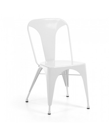 MALIBU CHAIR METALLIC WHITE C803R05