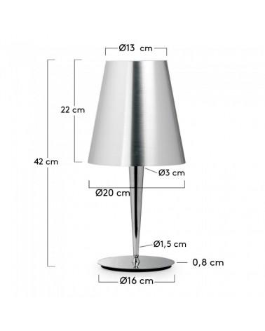 807809 IASA TABLE LAMP CHROMED GLOSS
