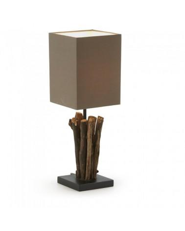 EA321FN10 SERATNA TABLE LAMP TROPICAL WOOD SHADE BROWN FN10