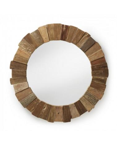 A179M47 NEDMAC Round mirror wood teak
