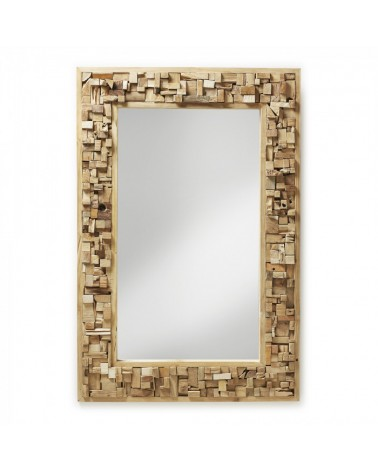 A180M47 YALANA Rectangular mirror wood teak
