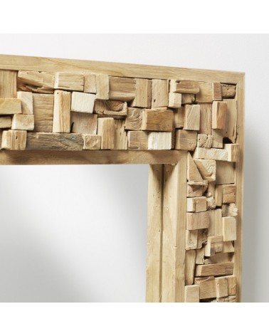 A180M47 YALANA Rectangular mirror wood teak