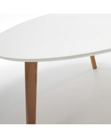 C604M05 BRICK Coffee table �90 leg wood natural top MDF white