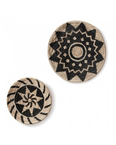 AA1124FN46 PROJET Set 2 wall decoration abaca
