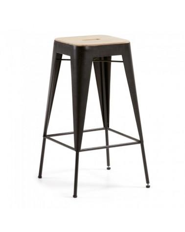 V013R02 VITA Barstool seat wood acacia metal graphite