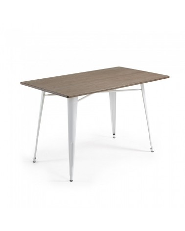 CC0257R05 MALIBU Table 150x80 metal white bamboo