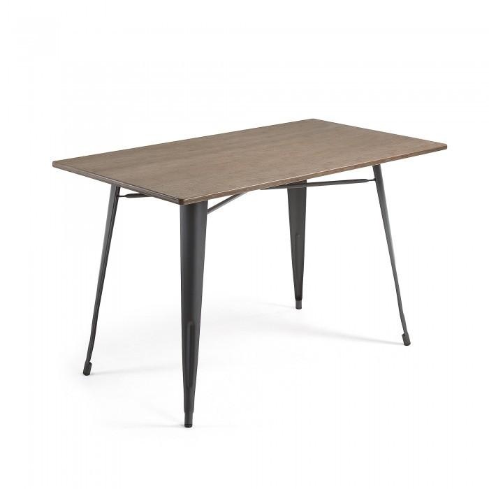 CC0257R02 MALIBU Table 150x80 metal anthracite bamboo