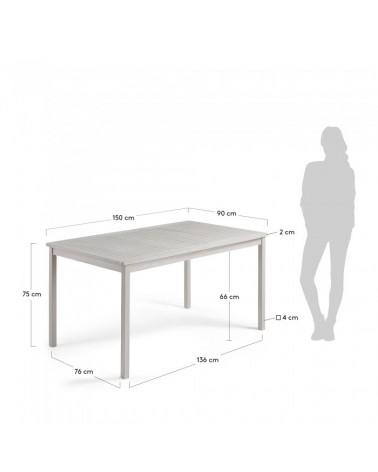 CC0213M14 BERKELEY Table 150x90 wood acacia light grey