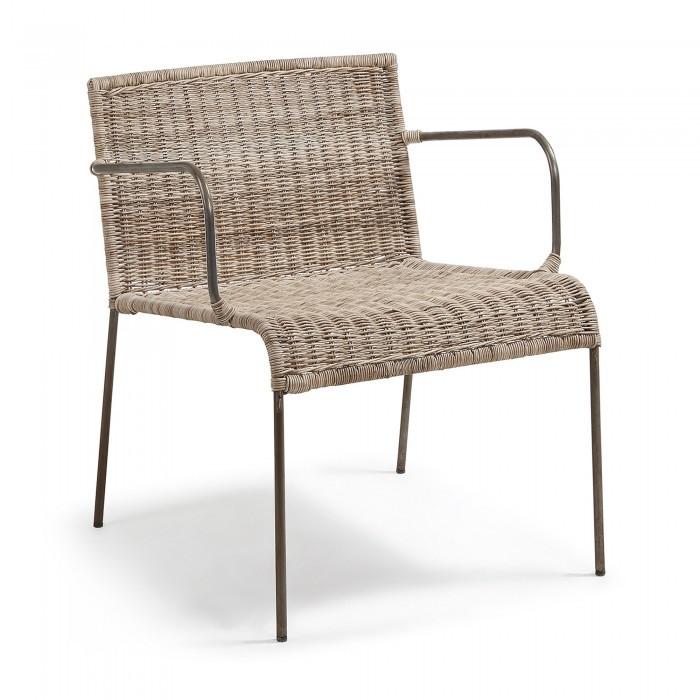 Rattan Chair Metal Legs: CC0075FN46 CLIFFY Armchair Metal Legs, Rattan