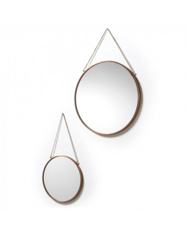 AA0331R54 NIKO SET 2 MIRRORS METAL COPPER