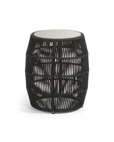 CC0203J15 PROGRAM SIDE TABLE Ø40x55 POLY-CEMENT ROPE DARK GREY