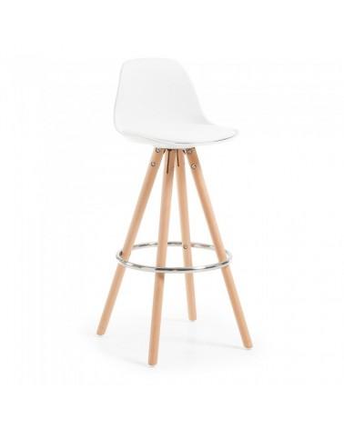 C769U05 STAG Barstool wood plastic white pu white