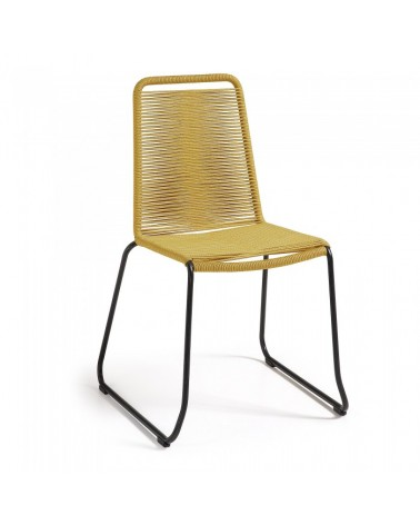 C835S32 MEAGAN Chair metal grey rope mustard