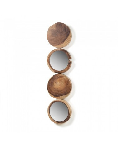 AA1015M46 ENKEL Mirror mungur wood