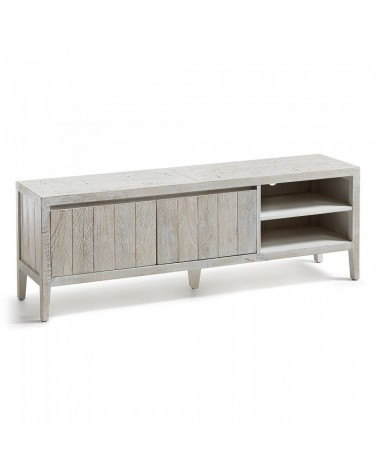 WD001M33 WOODY Tv cabinet 160x55 pine wood white wash