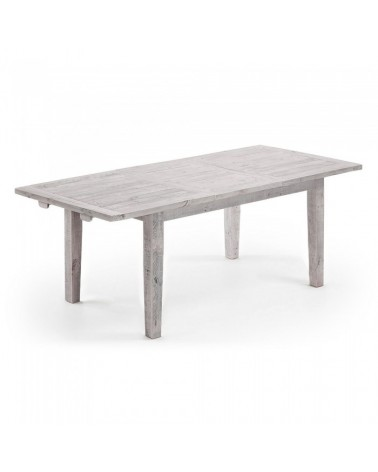 WD013M33 WOODY Table 160(220)x90 pine wood white wash
