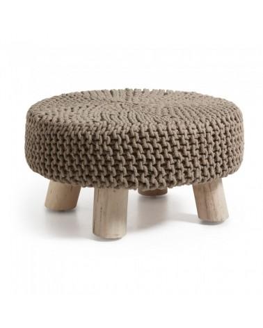 AA0103J10 STORM Footrest eucalyptus wood cotton brown