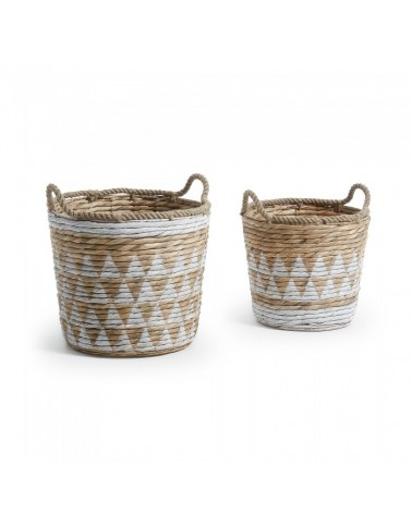 AA1177FN05 MAJA Set 2 baskets water hyacinth white