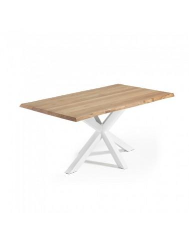 C361M40 ARYA Table 180x100 White, natural Oak