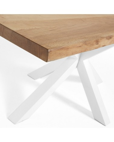 C361M40 ARYA Table 180x100 White, natural Oak