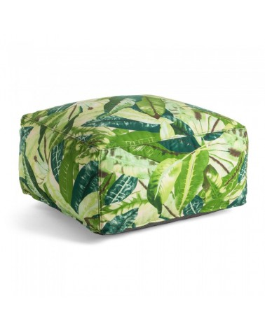 AA1317J06 TROPICAL Pouf 60x60 fabric multicolor green