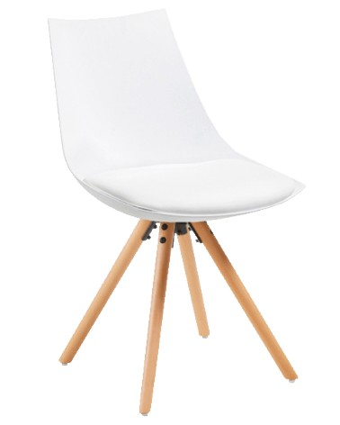 C846S05 ARMONY-R Chair natural wood plastic white