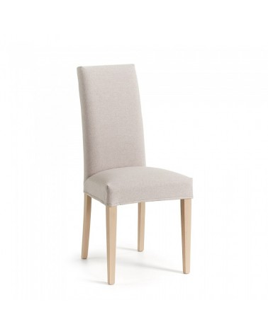CC0516VA12 FREIA Chair removable natural wood fabric beige