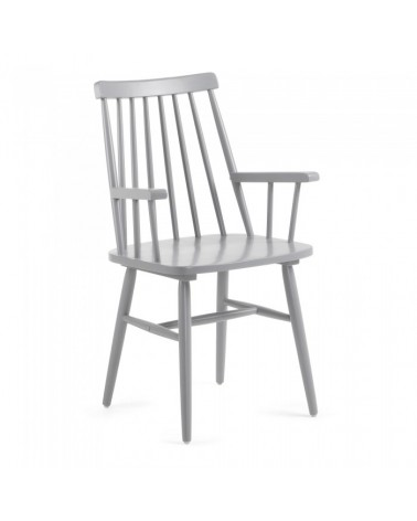 CC0429M14 KRISTIE Armchair wood light grey