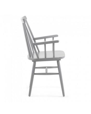 CC0429M14 KRISTIE Armchair wood light grey