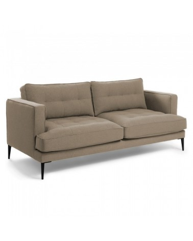 S489LD03 VINNY Sofa 3 seaters metal legs fabric light brown