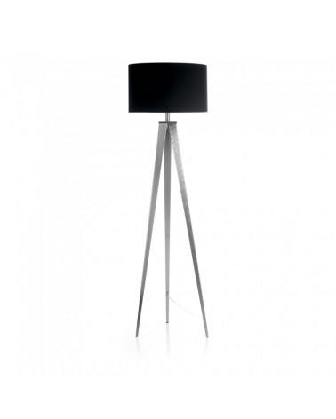 852007 UZAGI Floor Lamp Niquel Fabrics black