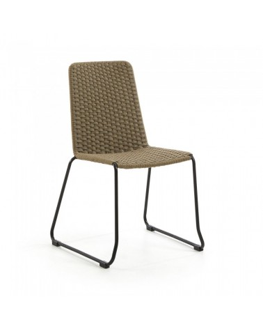 CC0545S12 MEGGIE Chair metal grey rope beige