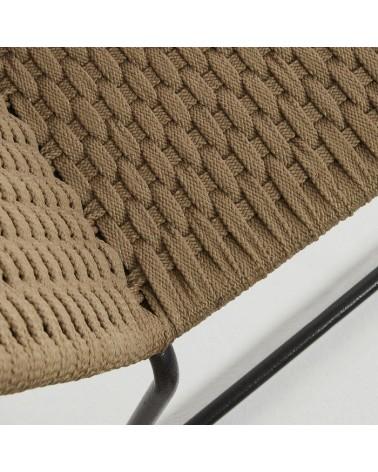 CC0545S12 MEGGIE Chair metal grey rope beige