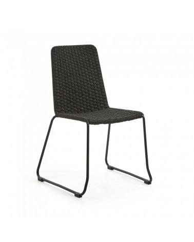 CC0545S15 MEGGIE Chair metal grey rope dark grey
