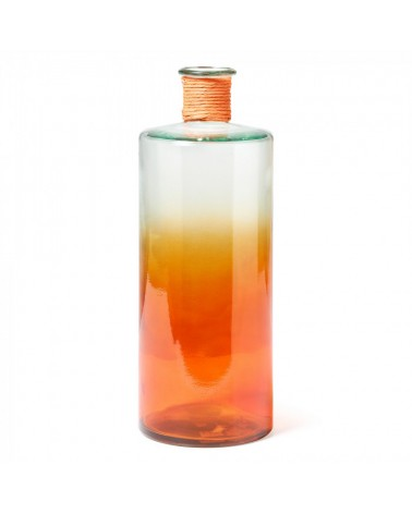 AA0074C13 SINCLAIR Vase 42cm Two-tone Clear Glass/Orange