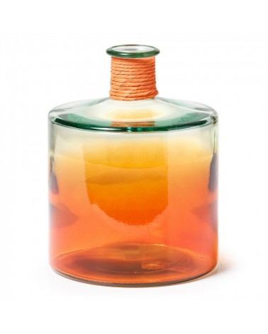 AA0075C13 SINCLAIR Vase 26cm Two-tone Clear Glass/Orange
