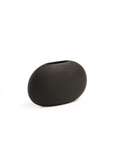 AA1981K01 LOANA Vase 17 cm ceramic black