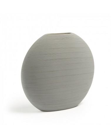 AA1979K14 LOANA Vase 32 cm ceramic light grey