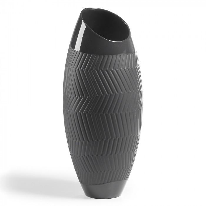 AA1420K01 MUNDO Vase 44 cm ceramic black