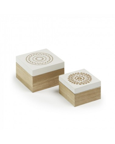 AA2226M05 ADDIE Set 2 boxes wood natural white