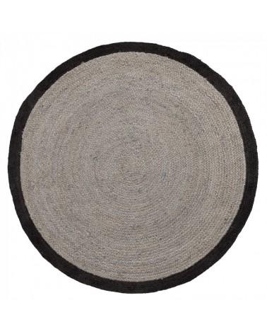 AA1254FN01 SAMY Carpet jute round 200 grey black