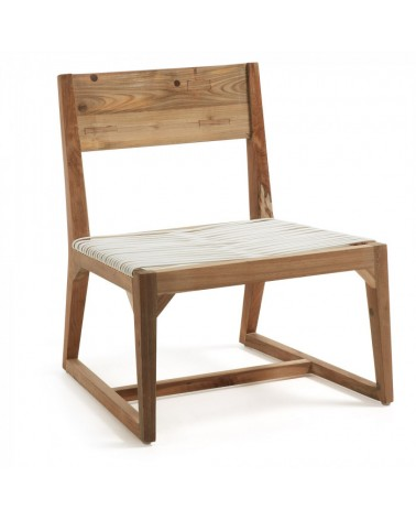 C586F33 LAURENT Armchair teak wood rattan white