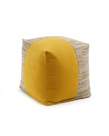 AA2276TP81 BOOST Pouf 45x45 fabric combination mustard