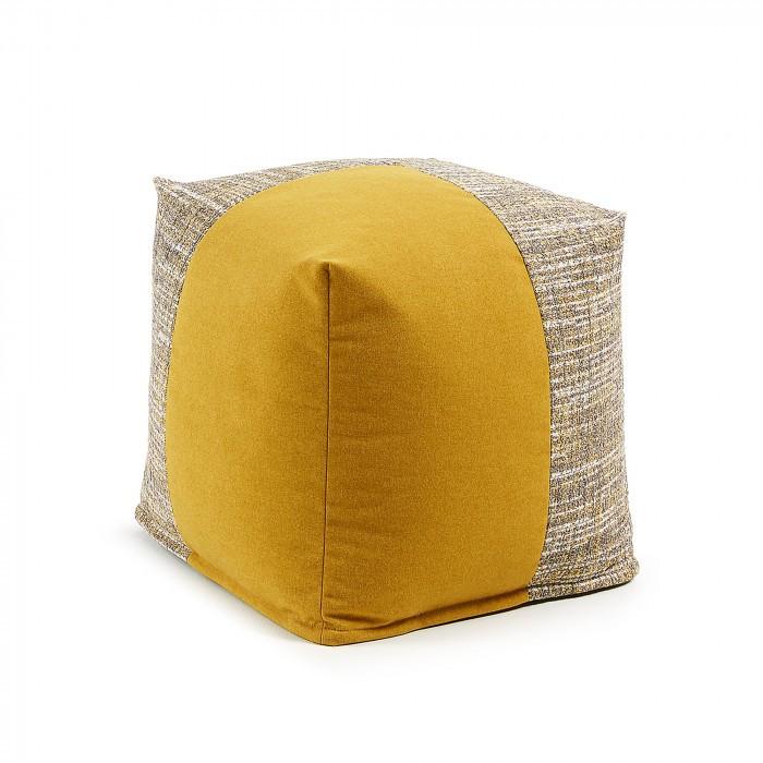 AA2276TP81 BOOST Pouf 45x45 fabric combination mustard