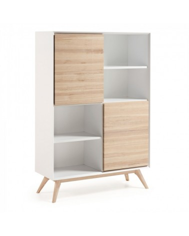 A819M50 QUATRE Bookshelf 104x152 ash wood, matt white mdf